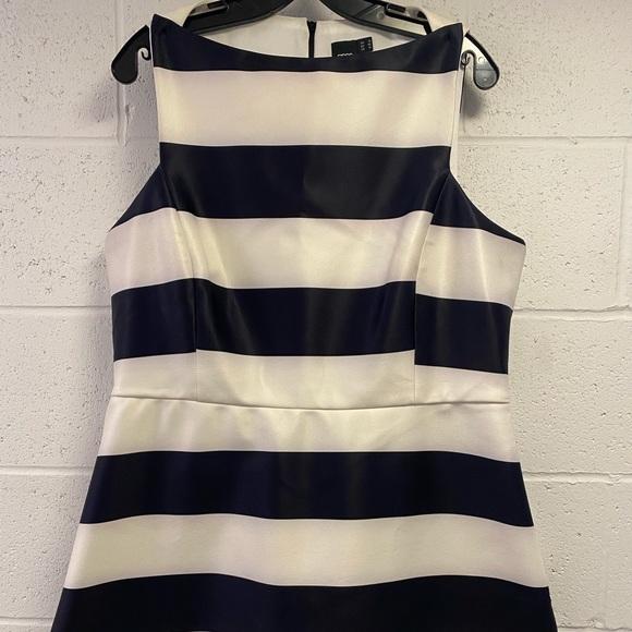 ASOS bonded black and white stripe mini dress